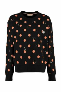 Tory Burch Polka-dot Cotton Sweatshirt