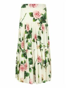 Dolce & Gabbana Floral Printed Long Skirt