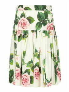 Dolce & Gabbana Floral Printed Skirt