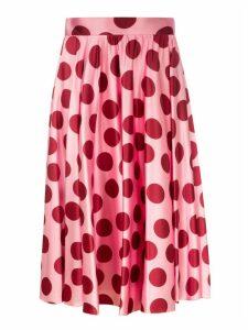 Dolce & Gabbana Polka Dot Pleated Skirt