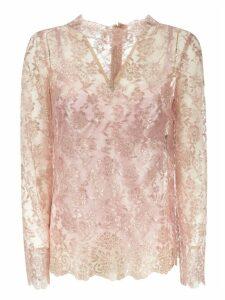 Dolce & Gabbana Lace V-neck Top