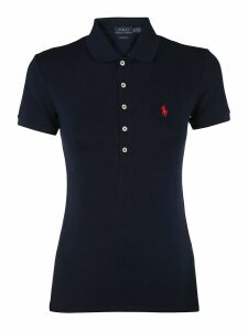 Polo Ralph Lauren Blu Cotton Polo Shirt