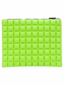 No Ka' Oi chocolate bar quilted clutch - Green