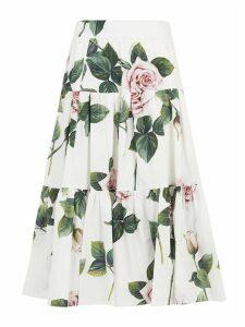 Dolce & Gabbana Floral Print Skirt