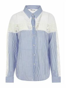 RED Valentino Stripe Print Laced Shirt