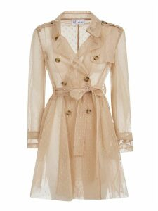 RED Valentino See-through Double Breasted Trench