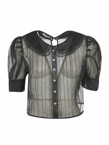 Miu Miu See-through Cropped Blouse