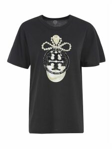 Tory Burch Sequin Embroidered T-shirt