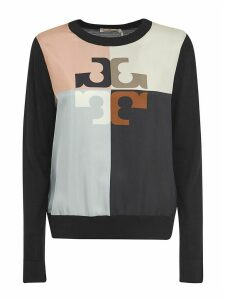 Tory Burch Silk Front Sweater