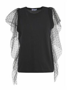 RED Valentino Ruffled See-through Sleeve Top
