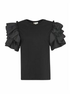 Alexander McQueen Ruffled Sleeve Top