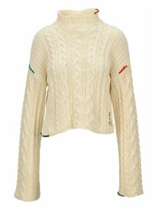 Jw Anderson Cropped Cotton Cable Jumper
