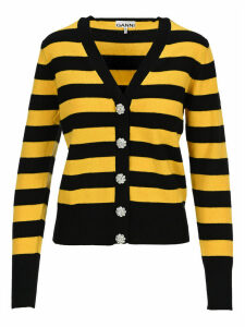 Ganni Cashmere Knit Striped Cardigan