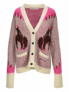 Golden Goose Intarsia Knit Cardigan