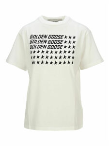 Golden Goose Logo Usa Flag Print T-shirt