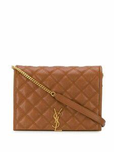 Saint Laurent Becky shoulder bag - Brown