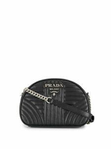 Prada Diagramme quilted-effect shoulder bag - Black