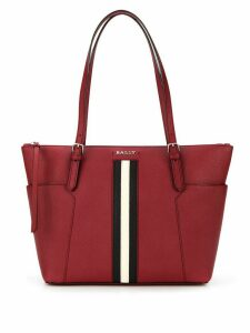 Bally stripe detail tote - Red