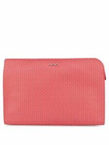 Zanellato oversized wave-print clutch bag - Red