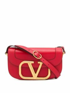 Valentino Valentino Garavani oversized VLOGO shoulder bag - Red