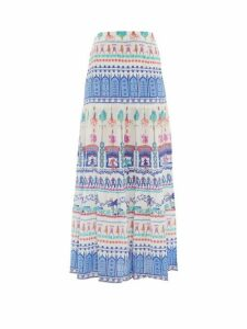 Le Sirenuse, Positano - Sevillana Proscenium-print Cotton Maxi Skirt - Womens - White Print