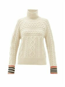 Burberry - Cable-knit Cashmere Sweater - Womens - Ivory