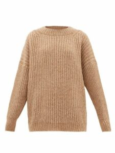 Lauren Manoogian - Fisherwoman Dropped-sleeve Alpaca-blend Sweater - Womens - Camel