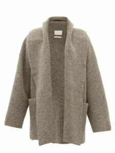 Lauren Manoogian - Shawl-lapel Cardigan - Womens - Dark Grey