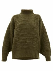 The Row - Pheliana Wool-blend Bouclé-effect Sweater - Womens - Khaki
