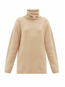 Lauren Manoogian - Horizontal Cowl-neck Baby-alpaca Sweater - Womens - Beige