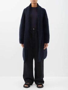 Raey - Oversized Chunky-knit Cashmere Cardigan - Womens - Navy