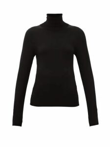 Dolce & Gabbana - Roll-neck Jersey Sweater - Womens - Black
