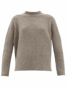 Lauren Manoogian - High-neck Alpaca-wool Sweater - Womens - Grey
