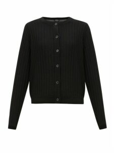 A.p.c. - Vicky Ribbed Merino Cardigan - Womens - Black