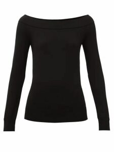 Dolce & Gabbana - Off-the-shoulder Stretch-scuba Top - Womens - Black