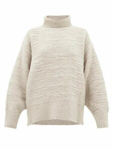 The Row - Pheliana Roll-neck Merino-wool Blend Sweater - Womens - Light Grey