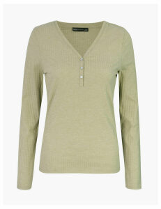 M&S Collection Textured Long Sleeve Top