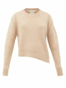 Bottega Veneta - Oversized Cut-out Rib-knitted Sweater - Womens - Beige