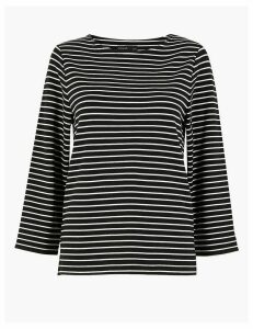 Autograph Striped Long Sleeve Top