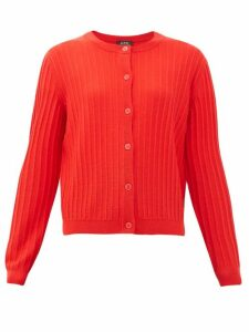 A.p.c. - Vicky Merino-wool Cardigan - Womens - Red