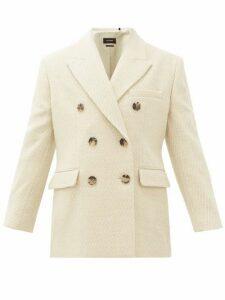 Isabel Marant - Hermina Double-breasted Peak-lapel Wool Blazer - Womens - Cream