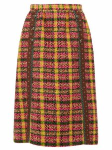 Gucci - Wool-blend Tweed Skirt - Womens - Yellow Multi