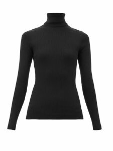 Gucci - Roll-neck Gg-appliqué Wool-blend Sweater - Womens - Black