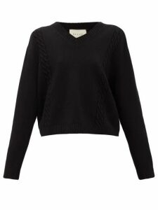 Gucci - Logo-appliqué Wool Sweater - Womens - Black