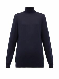 Hillier Bartley - Roll-neck Merino Wool Sweater - Womens - Navy