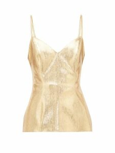 Hillier Bartley - Snake-effect Lamé Top - Womens - Gold