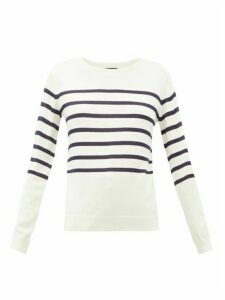 A.p.c. - Cordelia Breton-stripe Merino Wool-blend Sweater - Womens - Ivory