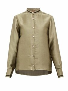 F.r.s - For Restless Sleepers - Eurito Pearl-button Lamé Blouse - Womens - Gold