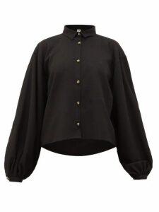 Totême - Novale Logo-buttoned Bouclé-twill Shirt - Womens - Black