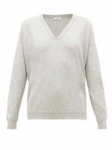 Brunello Cucinelli - Bead-trimmed Cashmere Sweater - Womens - Light Grey
